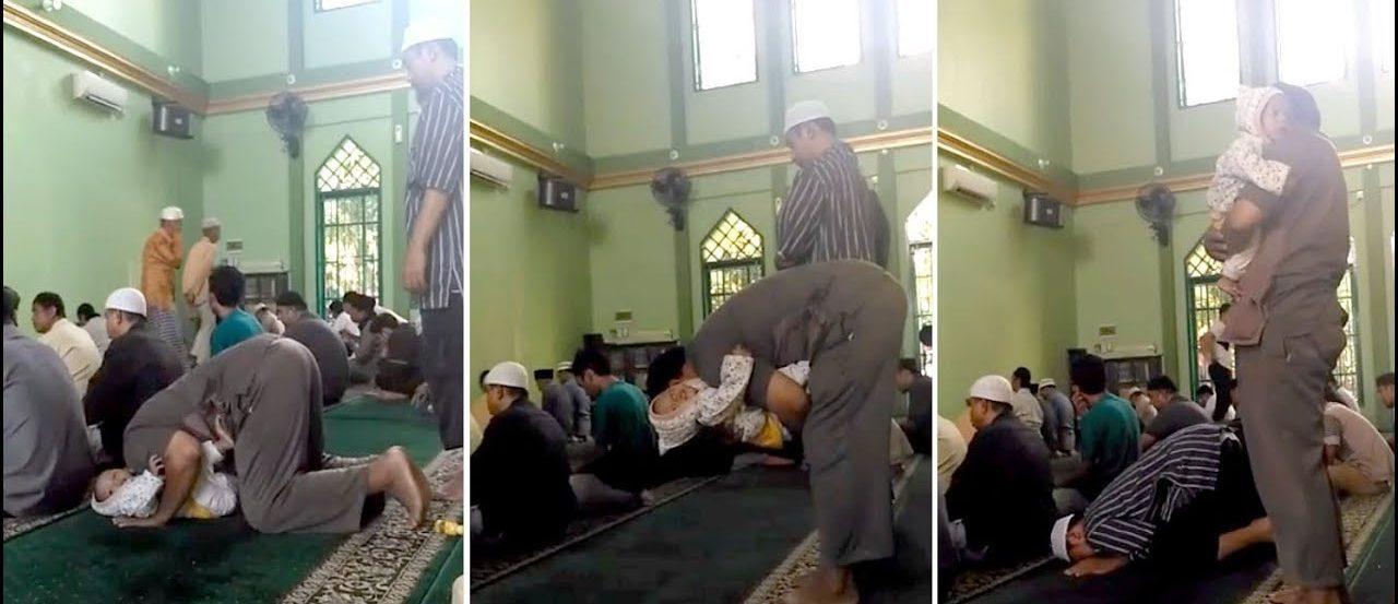 Shalat Menggendong Anak yang Pakai Pampers Kotor, Apakah Sah bimbingan islam