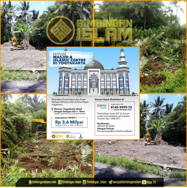 Pembersihan lahan untuk Islamic Center