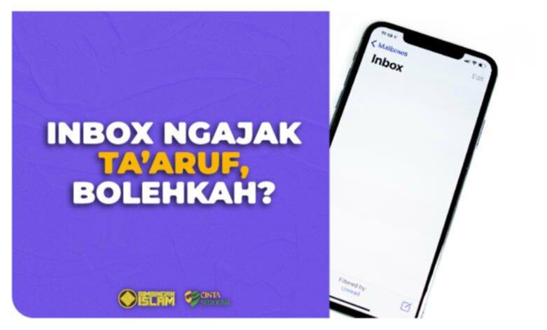 Inbox Ngajak Ta`aruf, Bolehkah