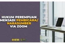 Hukum Perempuan Menjadi Pembicara Narasumber via Zoom